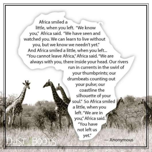 AFrica smiled a little SA in heart